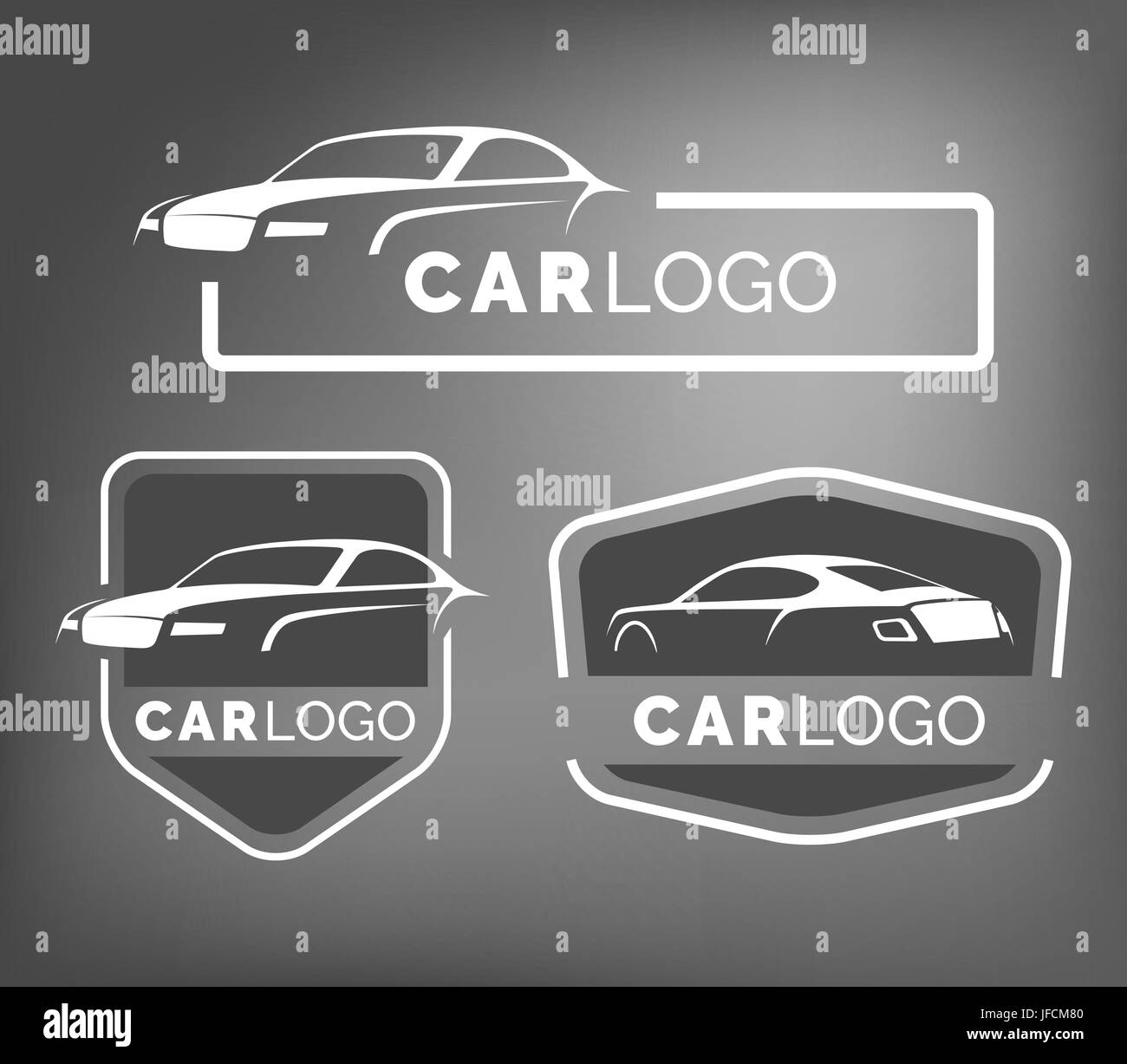 Set Of Modern Car Emblems Badges And Icons Modern Sports Car Stock
