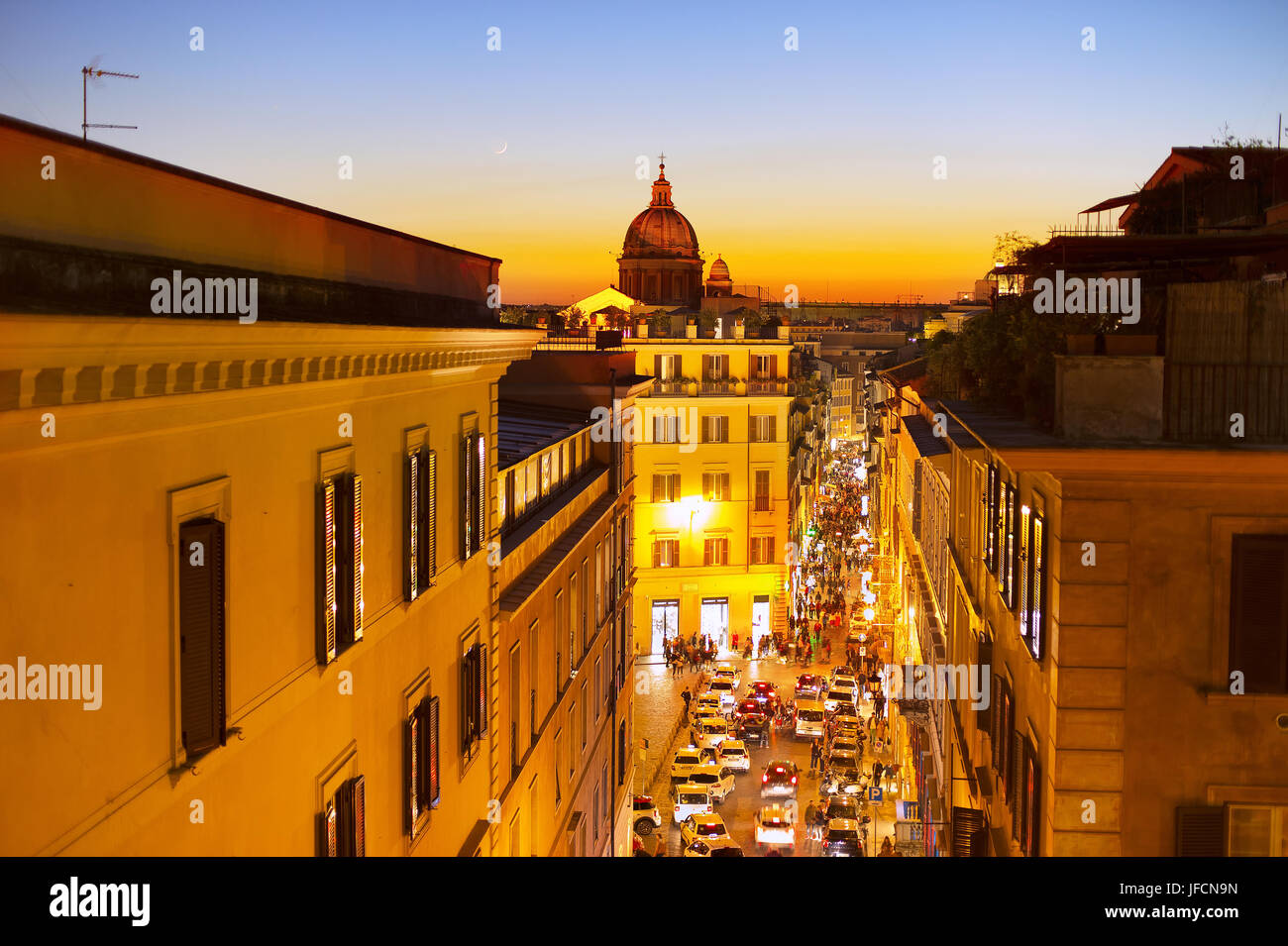Old Town street of Rome - Stock Image