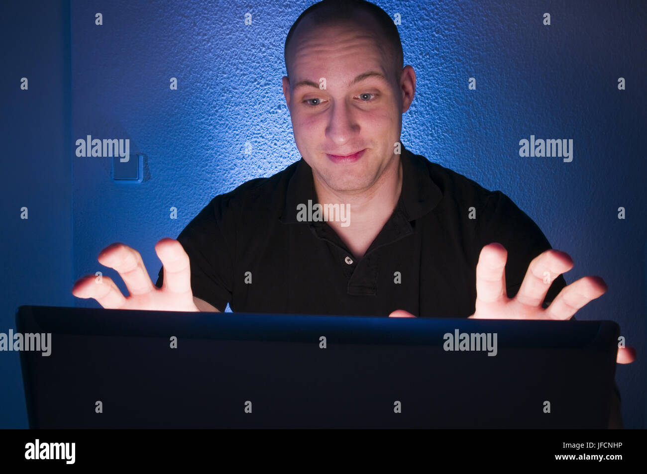 obscure on the screen - Stock Image