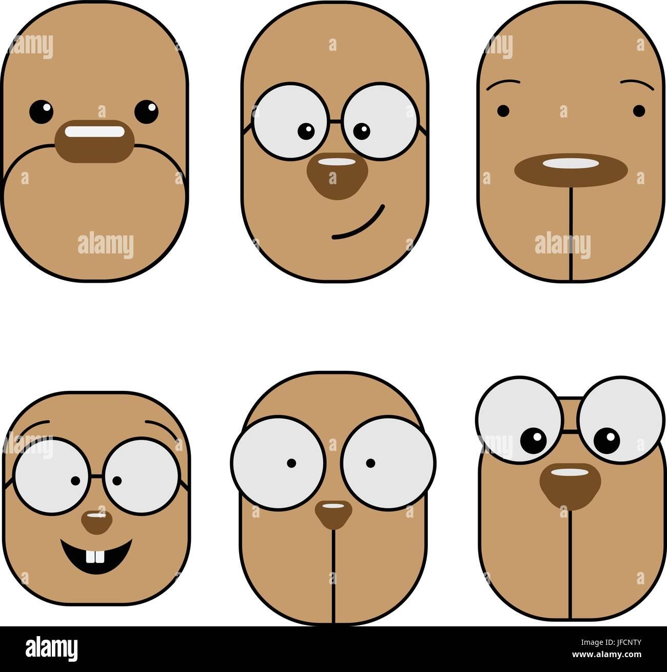 Emoji emoticon expression. - Stock Image