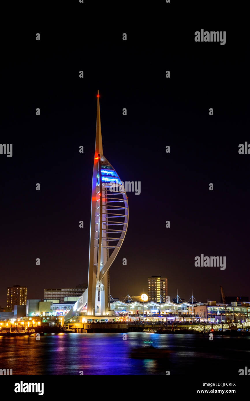 Spinnaker Night at Portsmouth Stock Photo