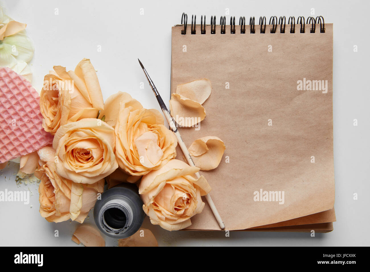Diary or notebook for your notes - Stock Image