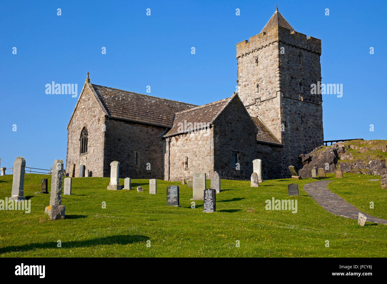 Tur Chlimain St Clements Church, Rodel, Isle of Harris, Scotland - Stock Image