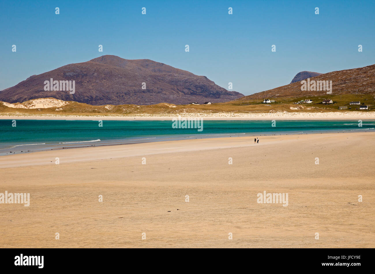 Isle of Harris, beach, outer Hebrides, Scotland - Stock Image