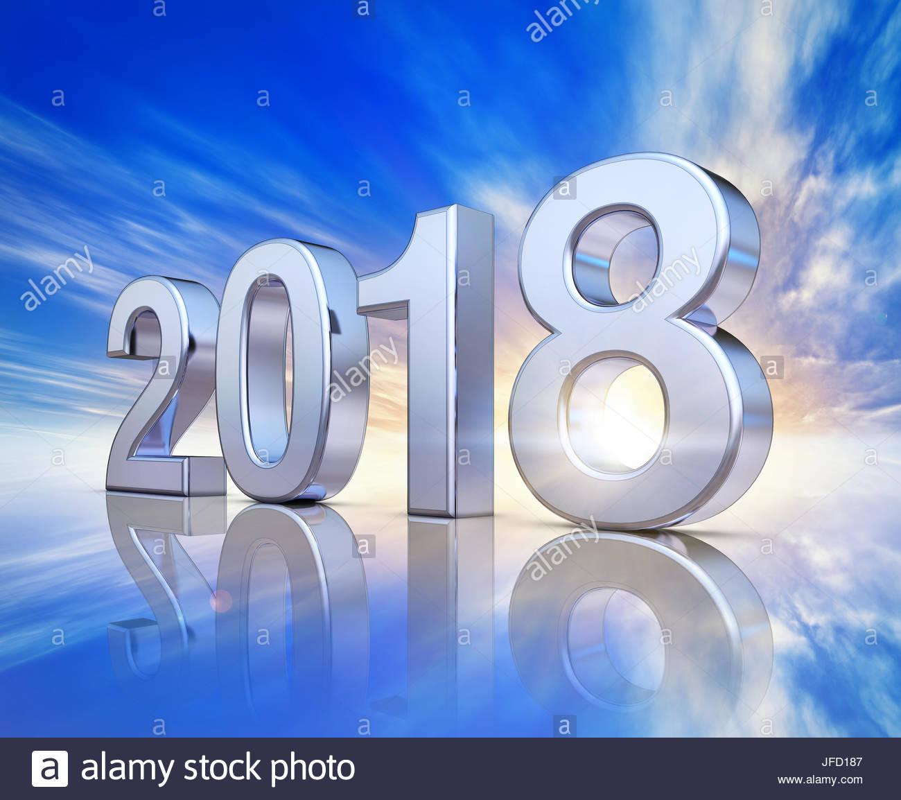 2018 background - Stock Image