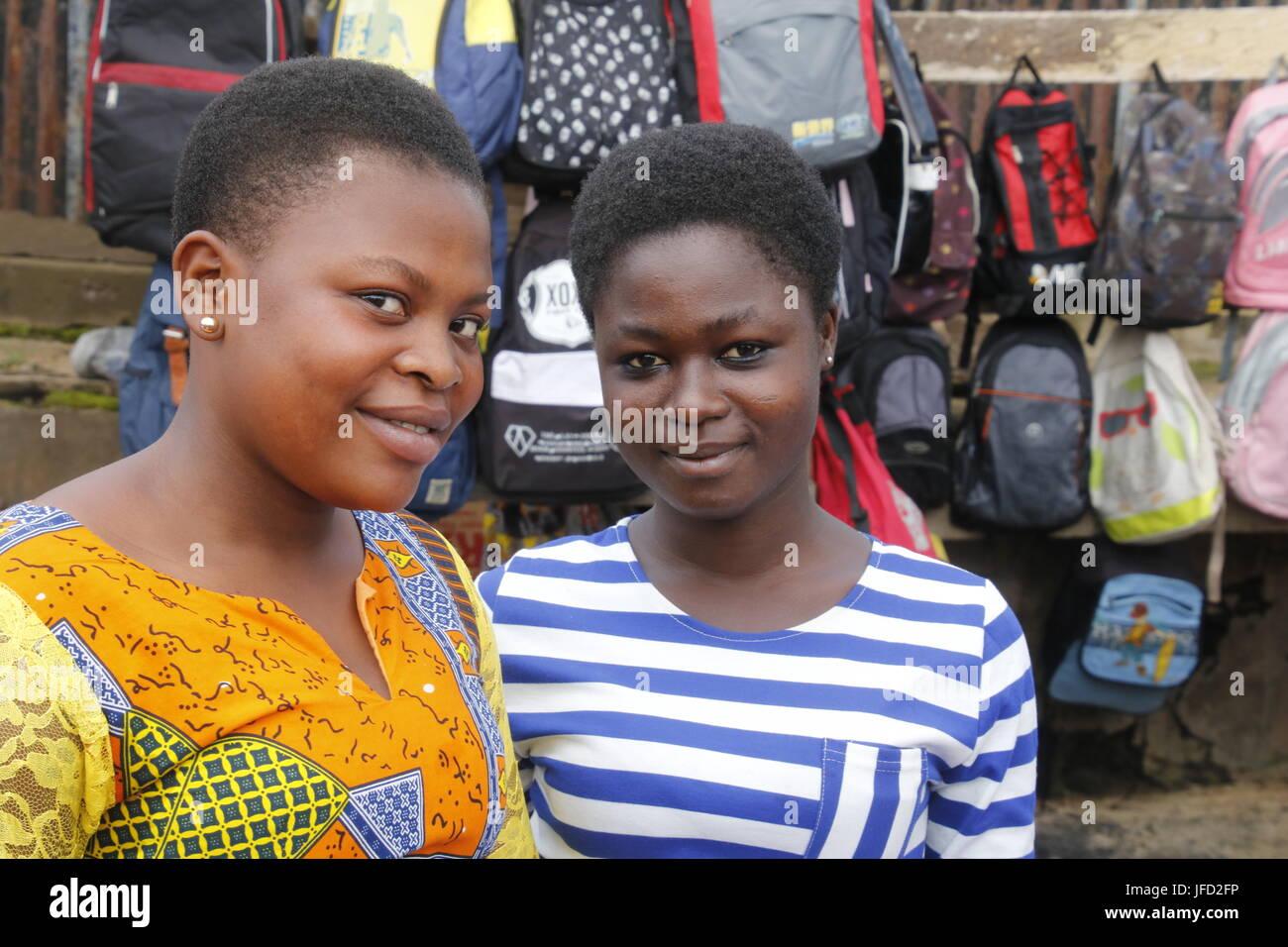 Ghanaian teenagers - Stock Image