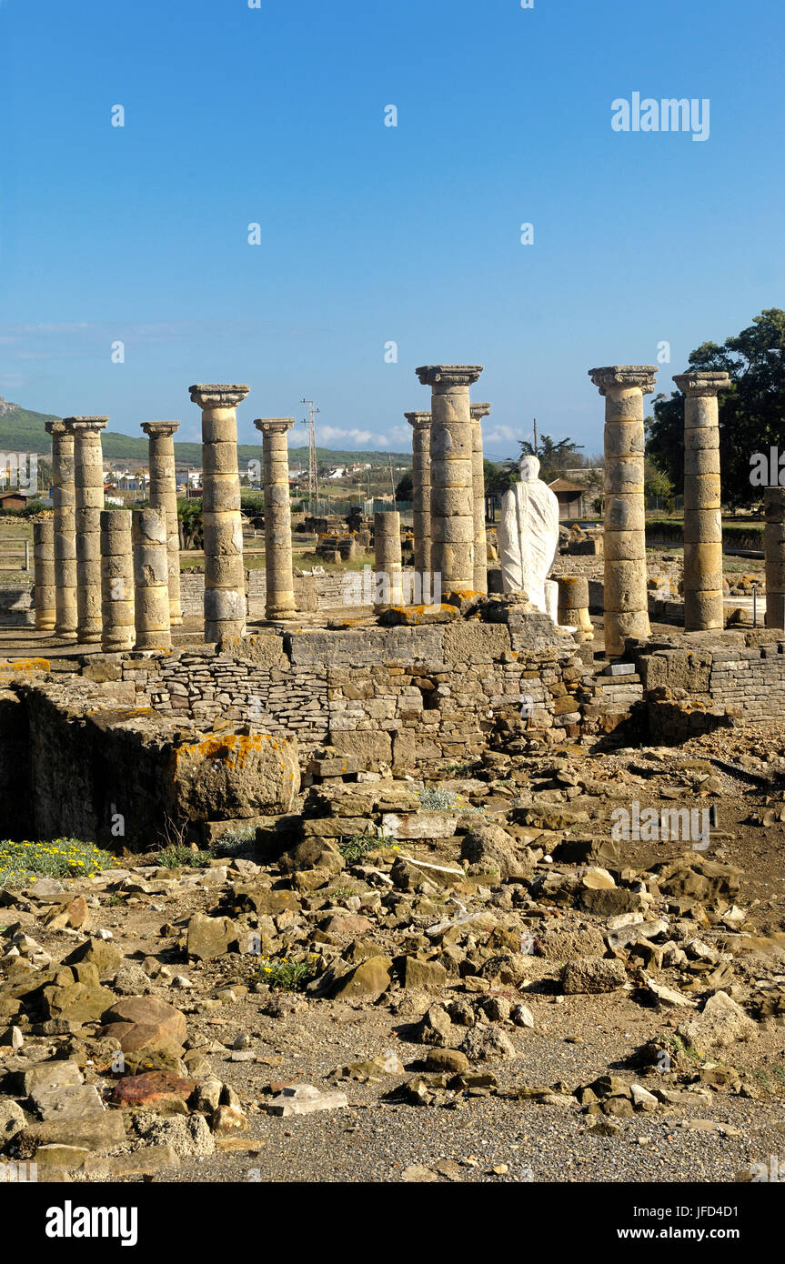 Ruins of Baleo Claudia, Roman town, Bolonia, Cadiz, Spain Stock Photo