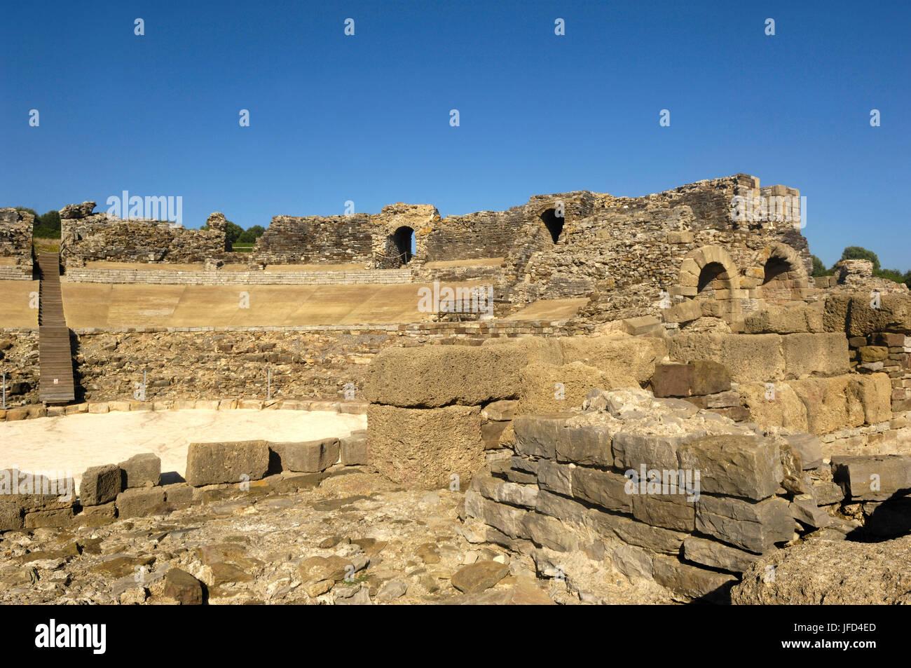 The Baelo Claudia ancient Roman town located in Bolonia, Cadiz province, Spain Stock Photo