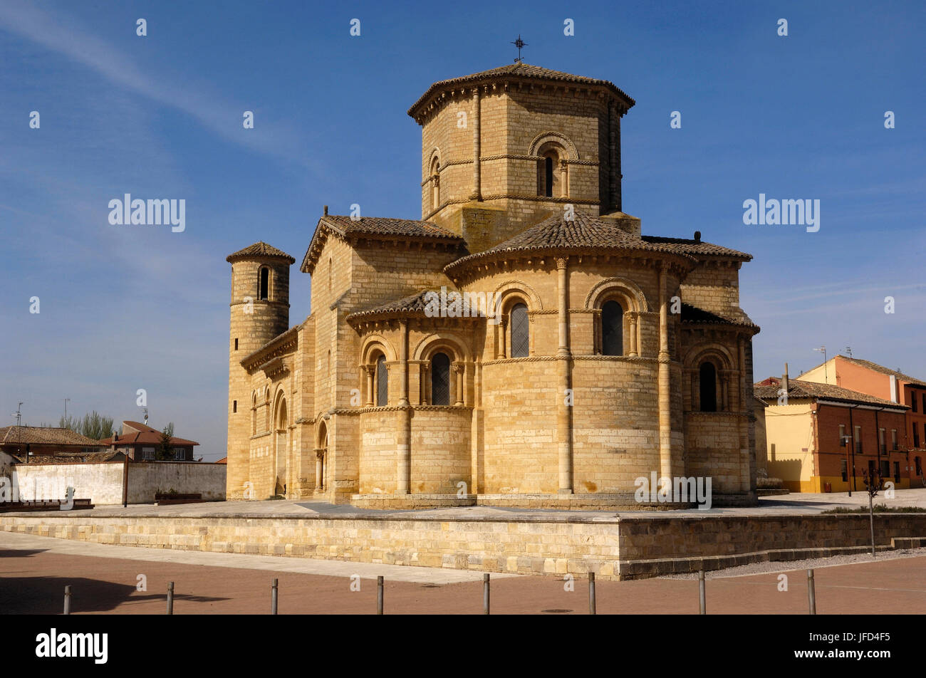 Romanesque church of San Martin de Tours, Fromista, Palencia province, Spain - Stock Image