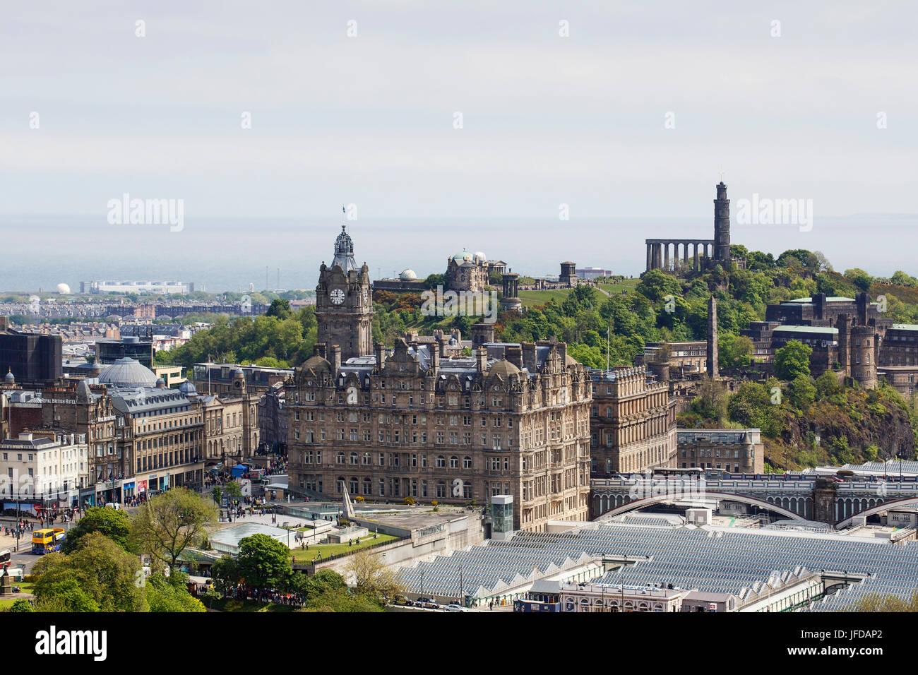 Edinburgh Cityscape - Waverley Hotel - Stock Image