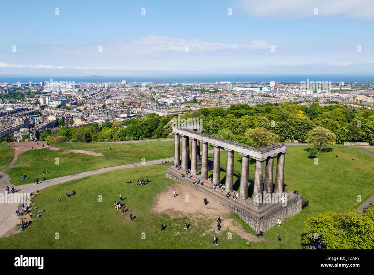Calton Hill Monument, Edinburgh - Stock Image