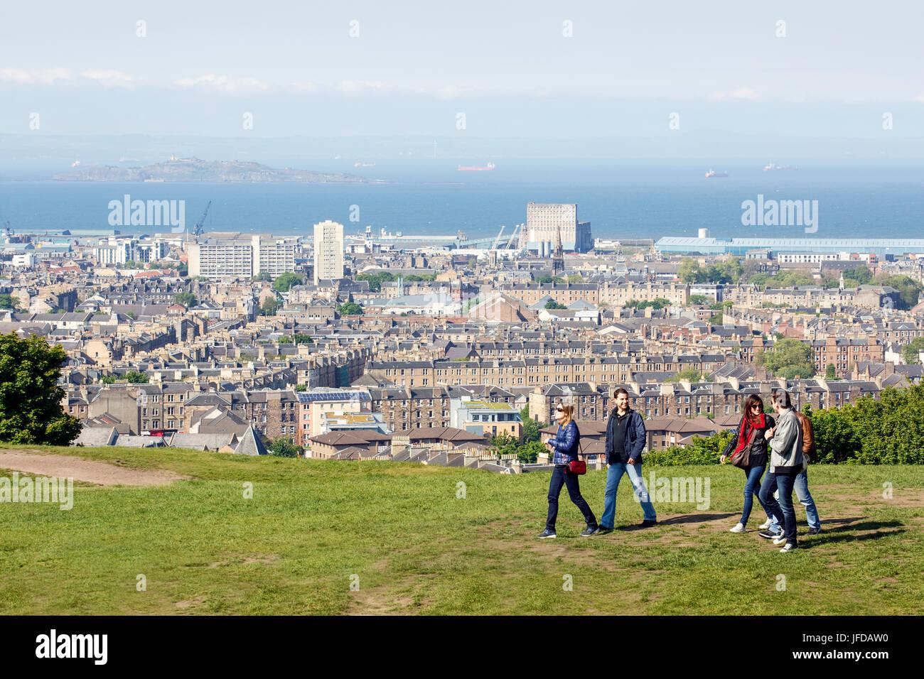 Calton Hill Edinburgh - Stock Image