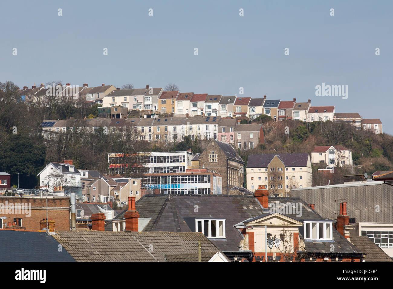 Houses in City Suburb Stock Photo