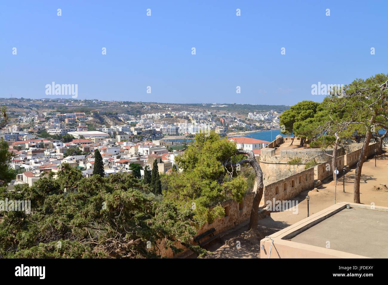 Rethymno Fortezza fortress city view Stock Photo