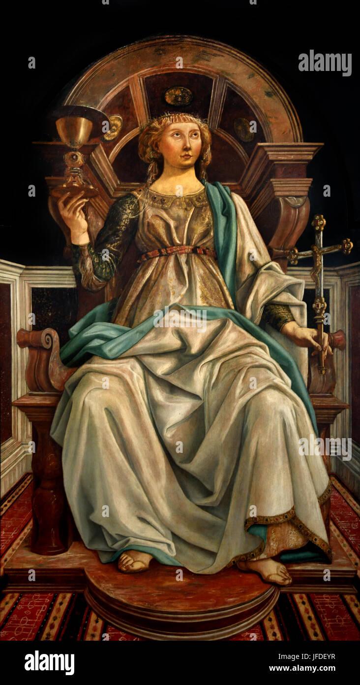 Faith 1469 until 1472 Piero del Pollaiuolo ( 1443 – 1496 ), also known as Piero Benci, was an Italian Renaissance - Stock Image