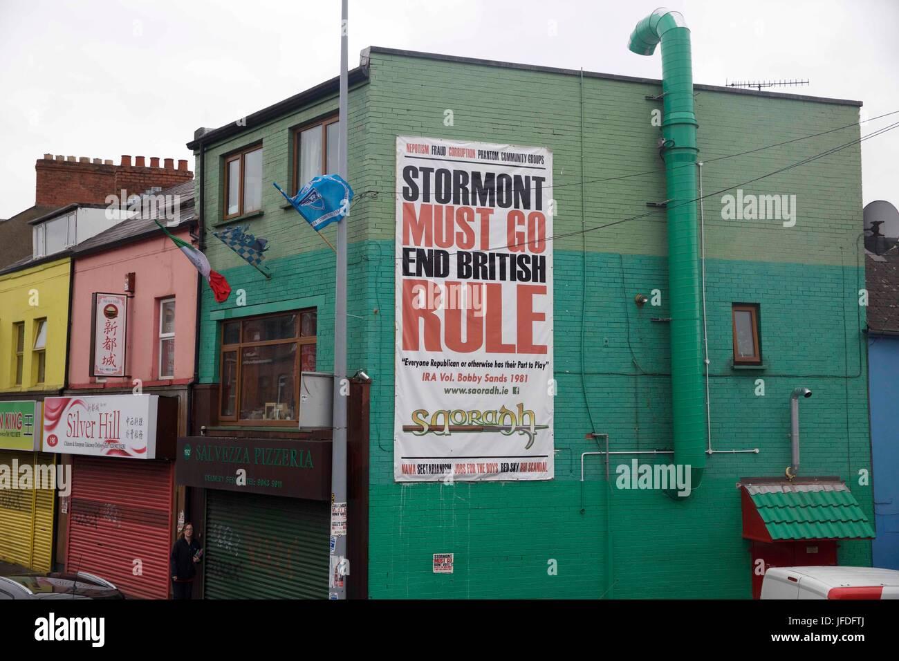 in Belfast Northern Ireland - Stock Image