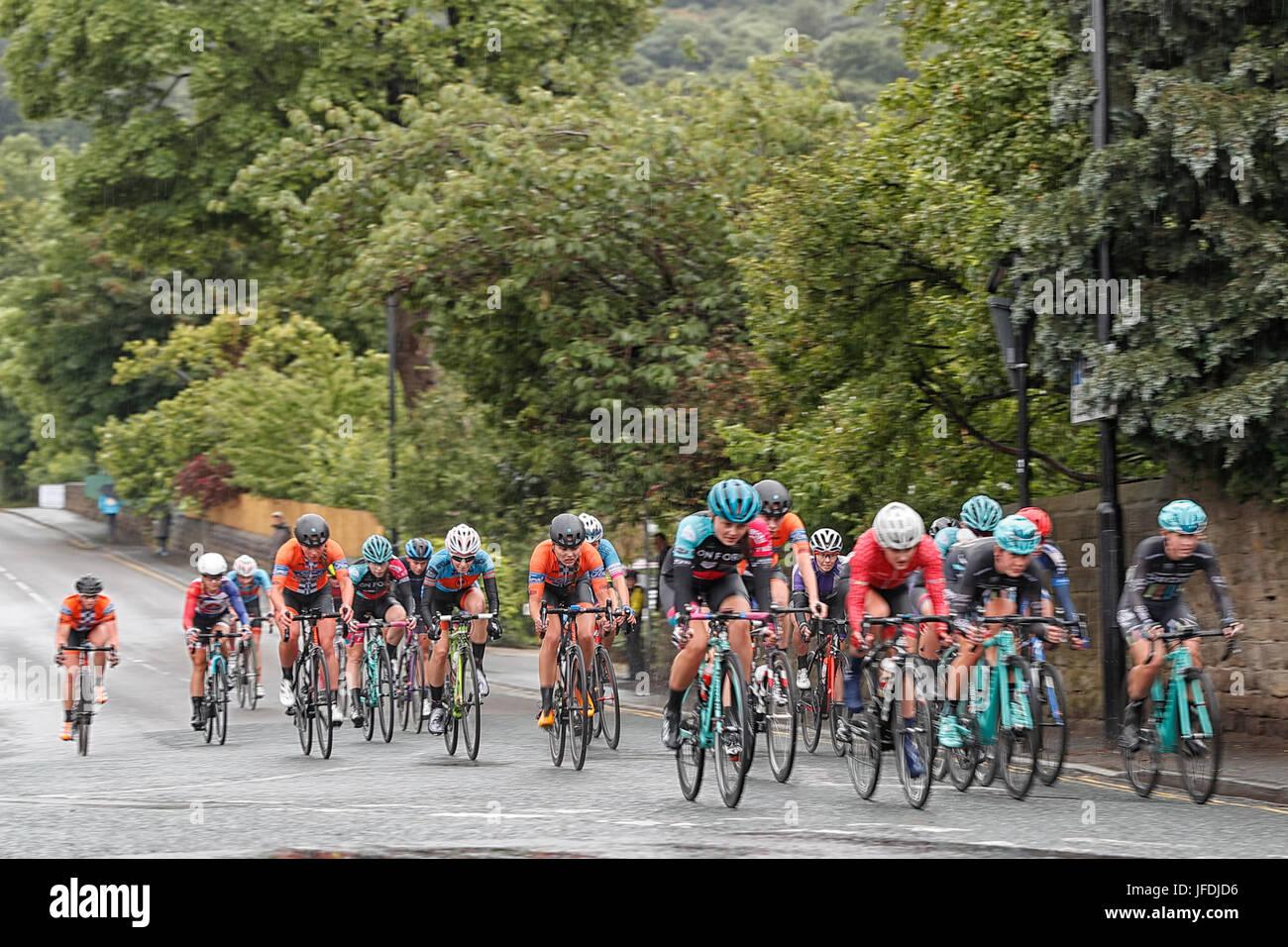 Otley Cycle race - Stock Image