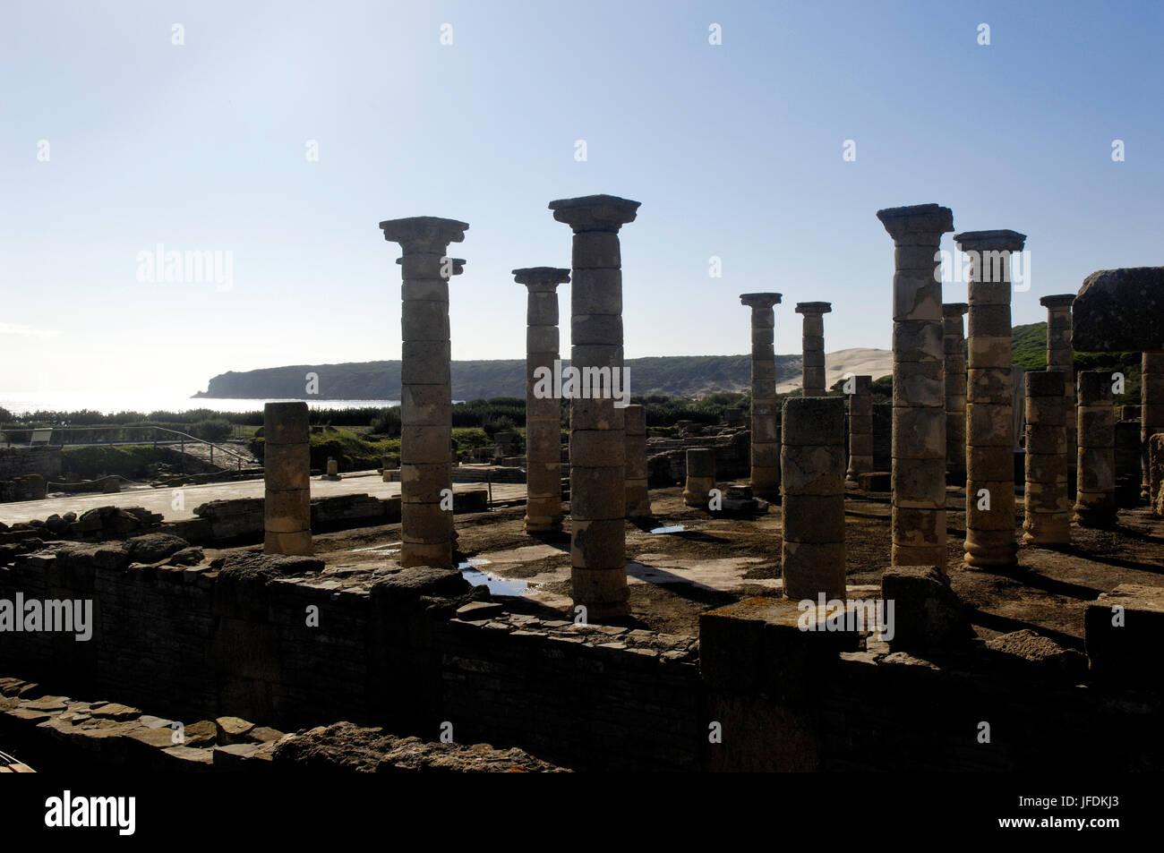 Baelo Claudia ancient Roman town located in Bolonia, Cadiz, Andalusia, Spain Stock Photo