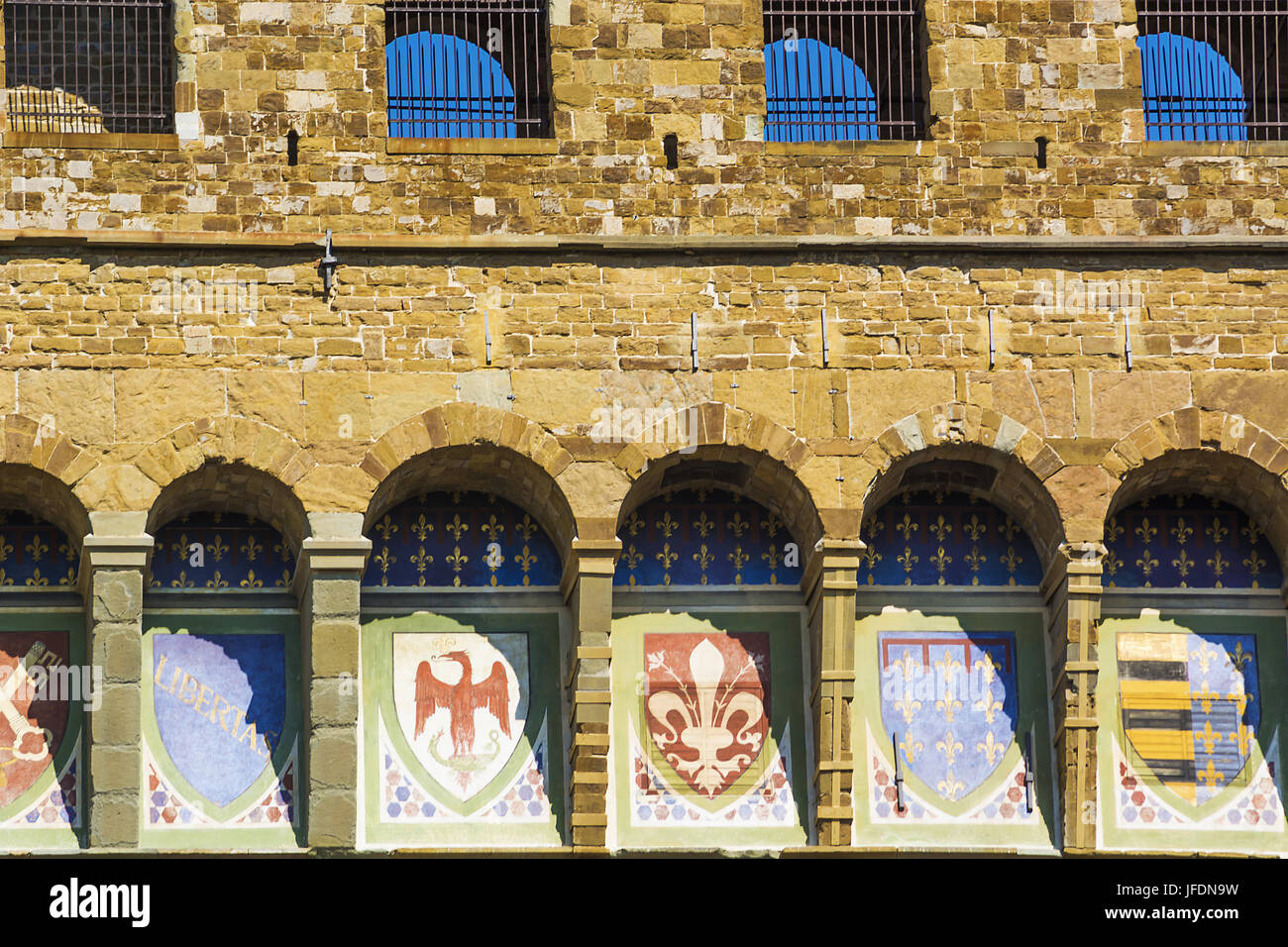 emblems of the Florentine Republic - Stock Image
