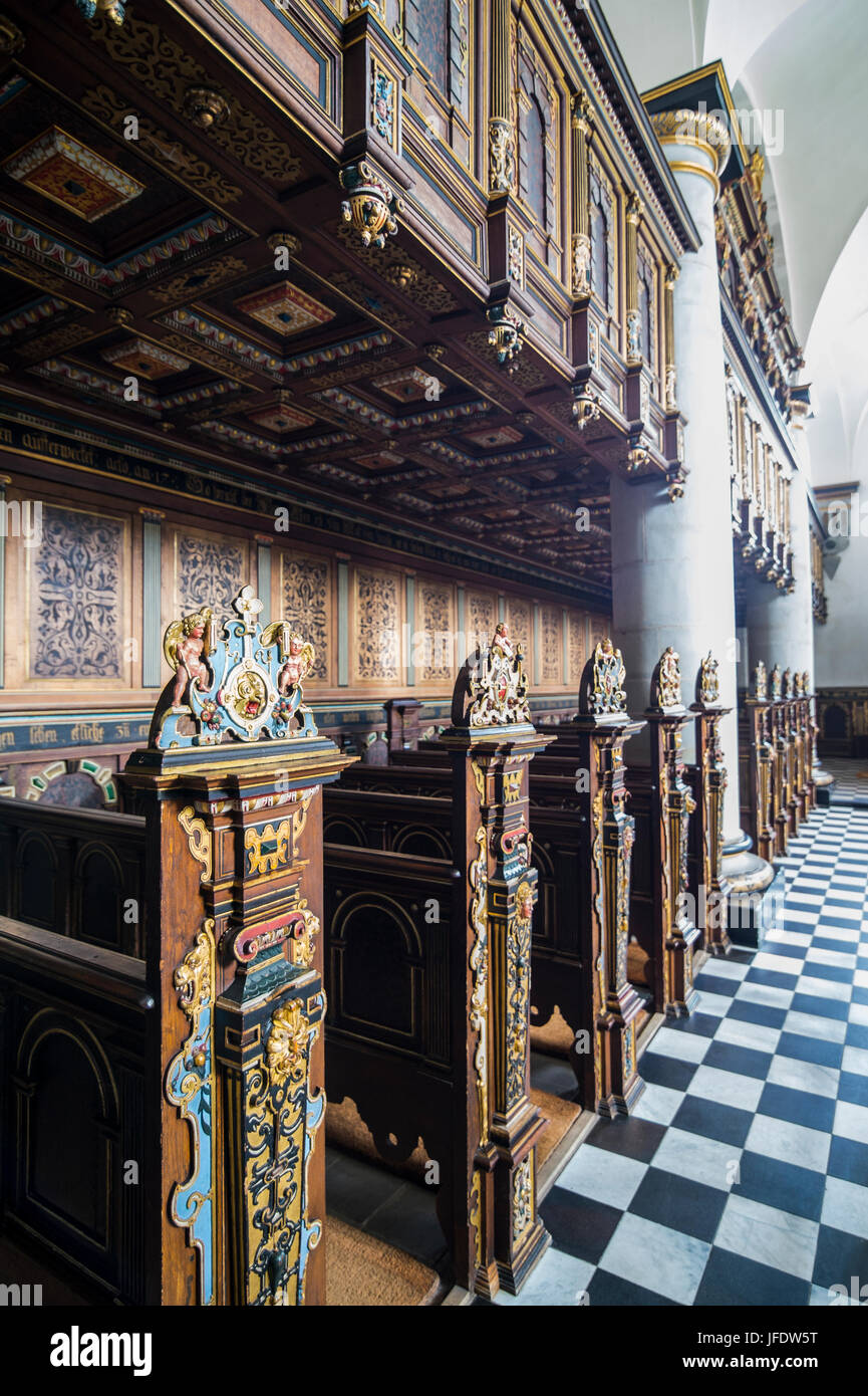 Chapel inside the Unesco world heritage sight Kronborg renaissance castle, Helsingor, Denmark - Stock Image
