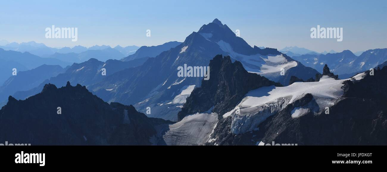 Stunning view from mount Titlis - Stock Image