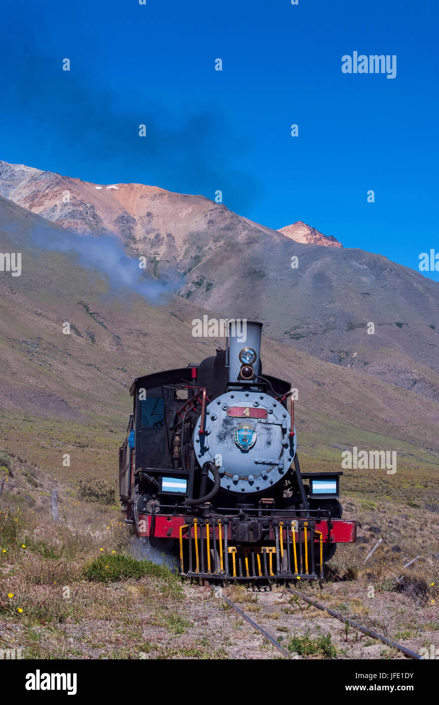 La Trochita the Old Patagonian Express  between Esquel and El Maitén in Chubut Province, Argentina, South America - Stock Image