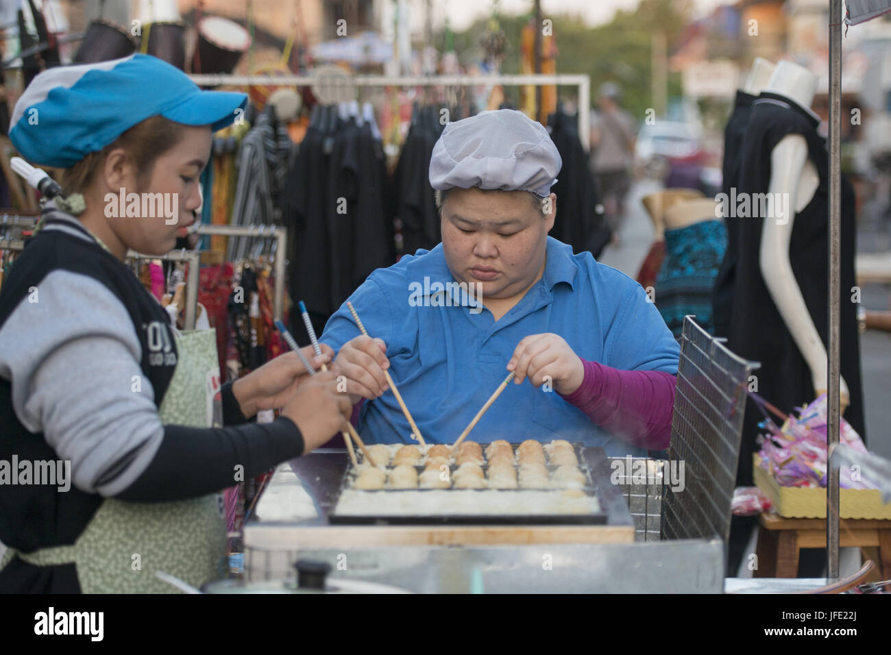 THAILAND LAMPANG CITY NIGHTMARKET - Stock Image