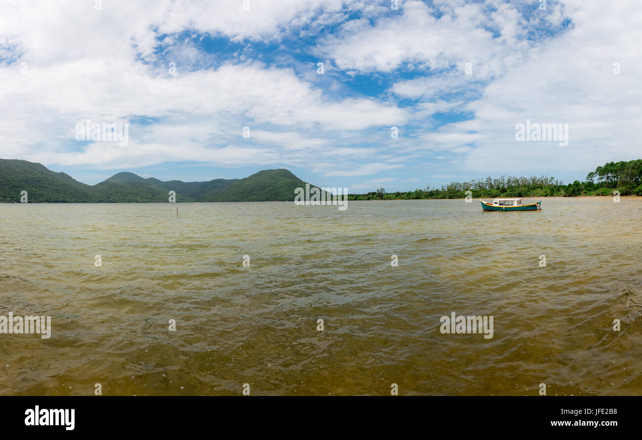 Conceicao lagoon in Florianopolis, Brazil - Stock Image