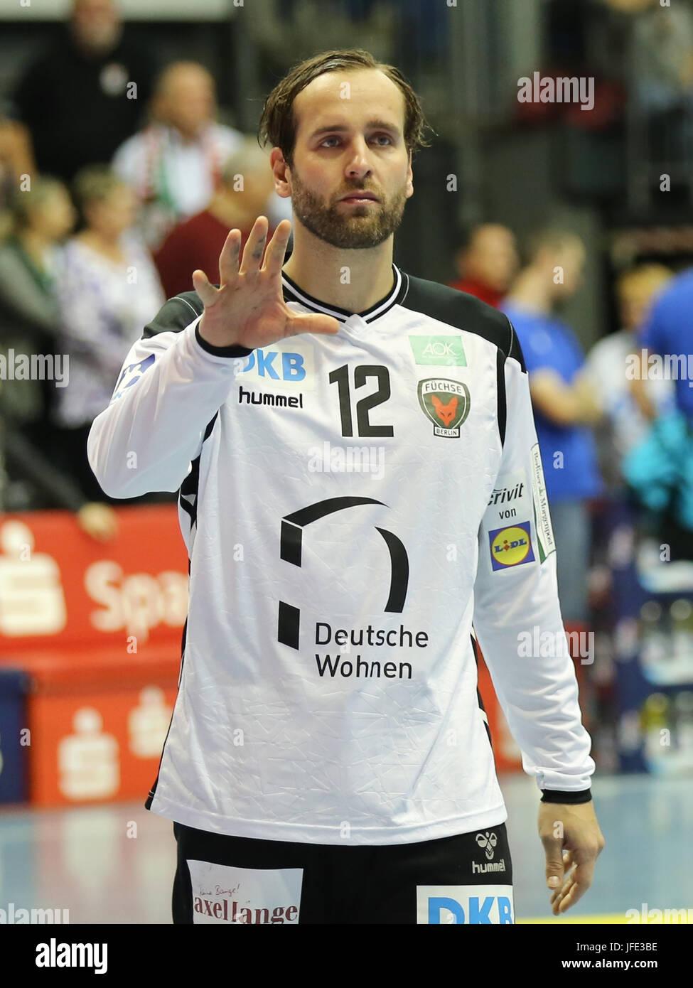 Goalkeeper Silvio Heinevetter (Füchse Berlin) - Stock Image