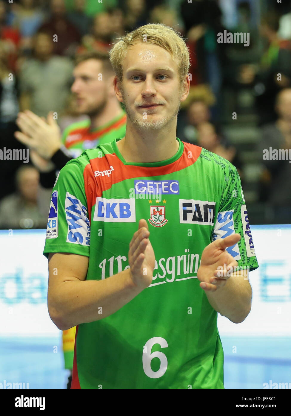 Matthias Musche ( SC Magdeburg) - Stock Image