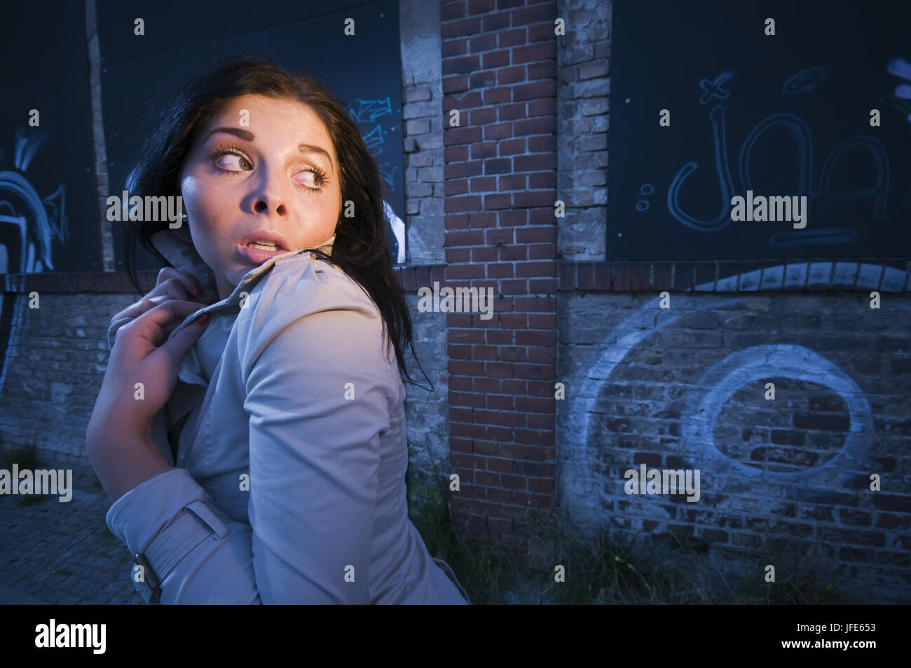 fright in the night - Stock Image