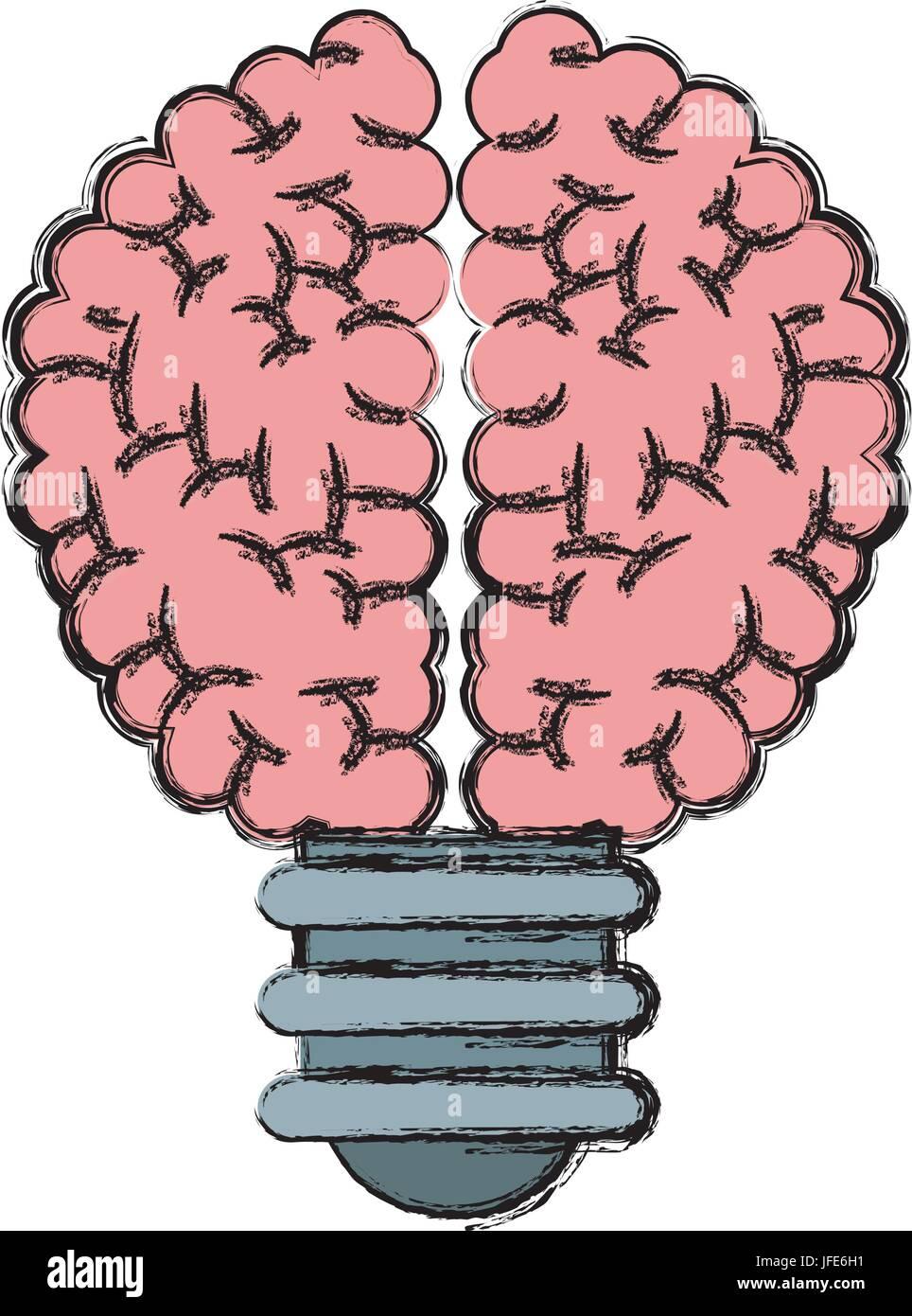 buld brain idea creativity knowledge - Stock Image