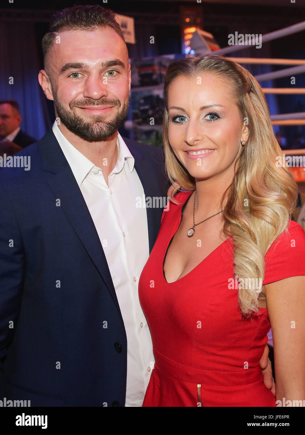 Boxer Dominic Bosel With Girlfriend Stock Photo Alamy