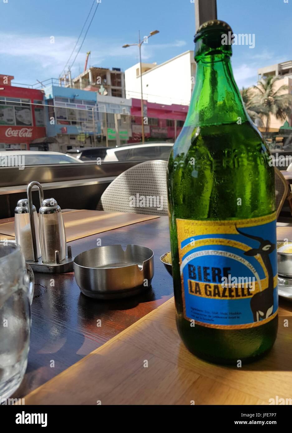 Bottle of Biere La Gazelle, Senegalese Beer