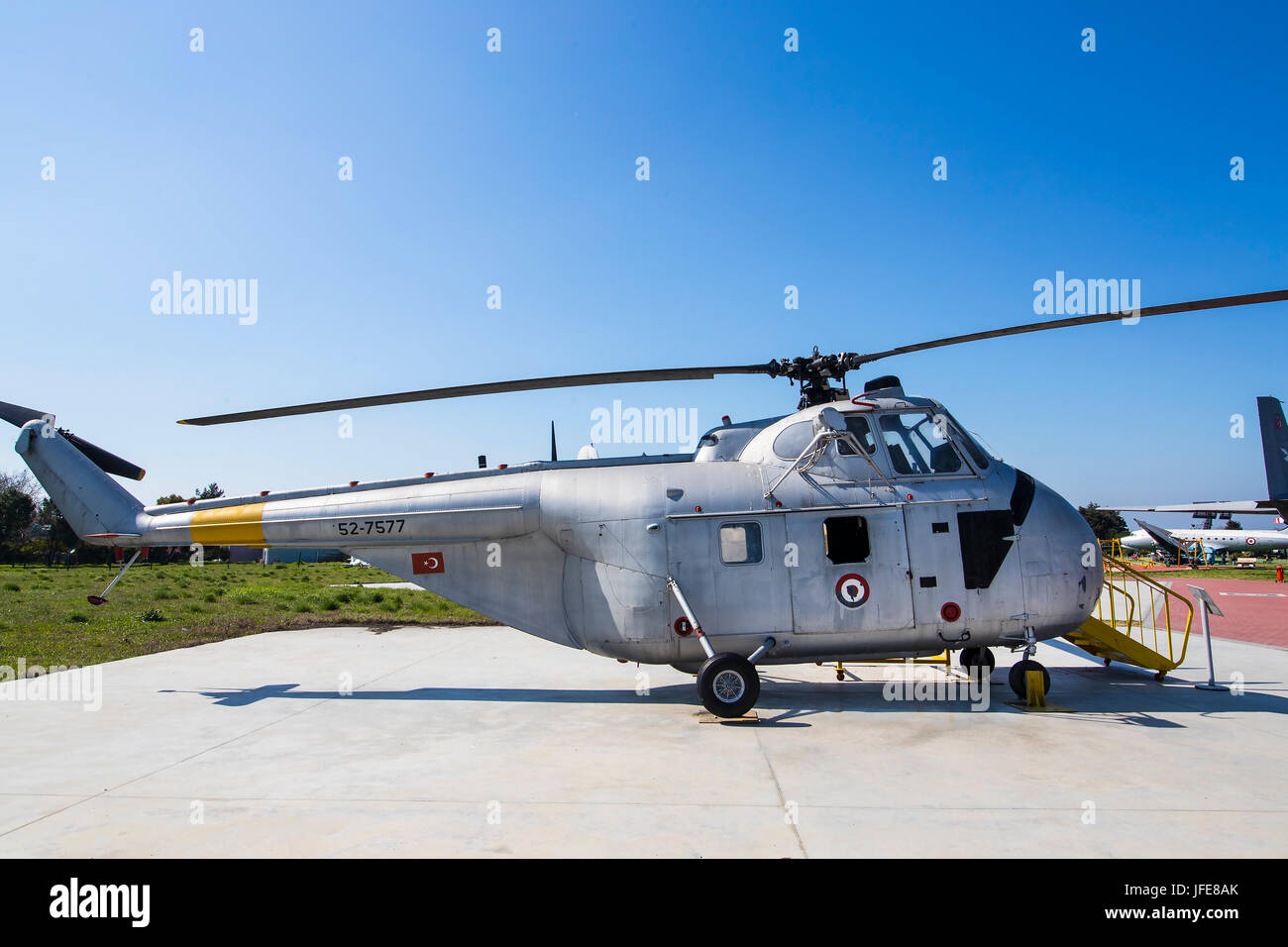 ISTANBUL, TURKEY - 4 APRIL , 2017: Museum of aviation in Istanbul is represented by a large collection of military - Stock Image