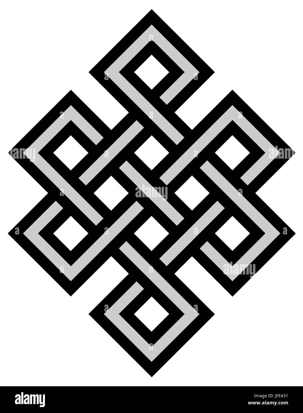 Tibetan Knot Symbol Stock Photo 147218093 Alamy
