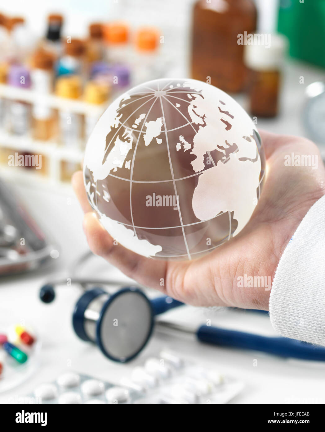 MODEL RELEASED. Global healthcare, conceptual image. - Stock Image