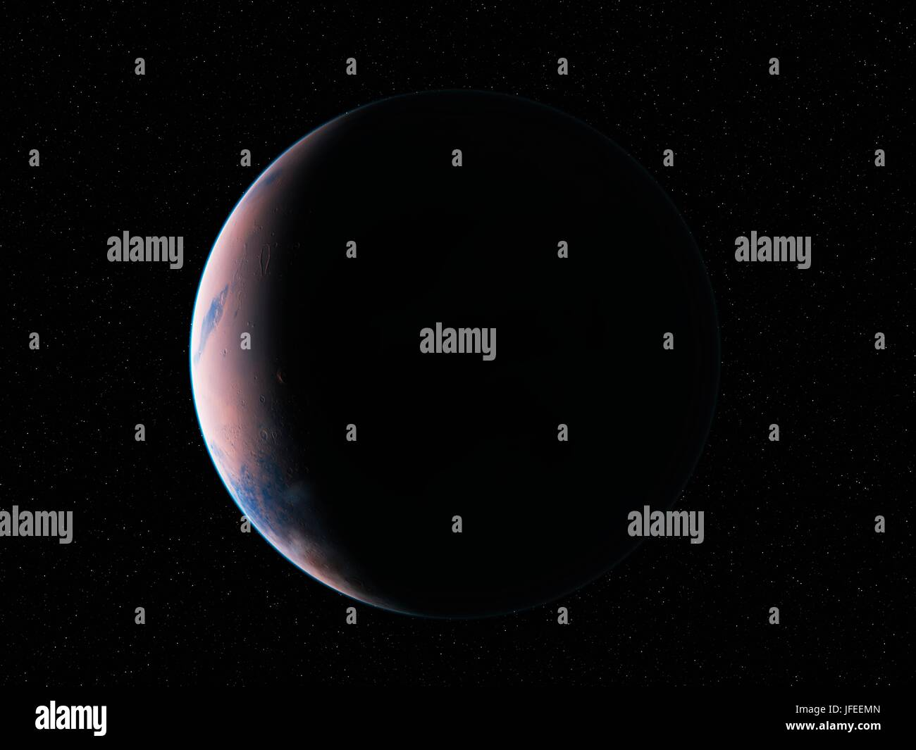 Planet in space, illustration. - Stock Image