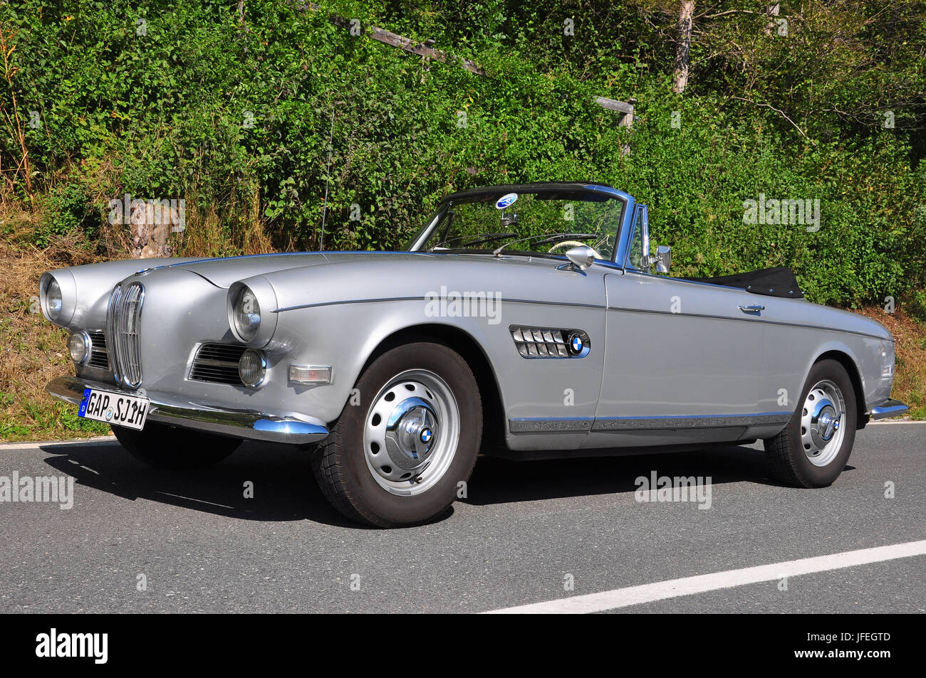 Old Timer Exit Thousand Of Fiori Bmw 503 Convertible Stock Photo Alamy
