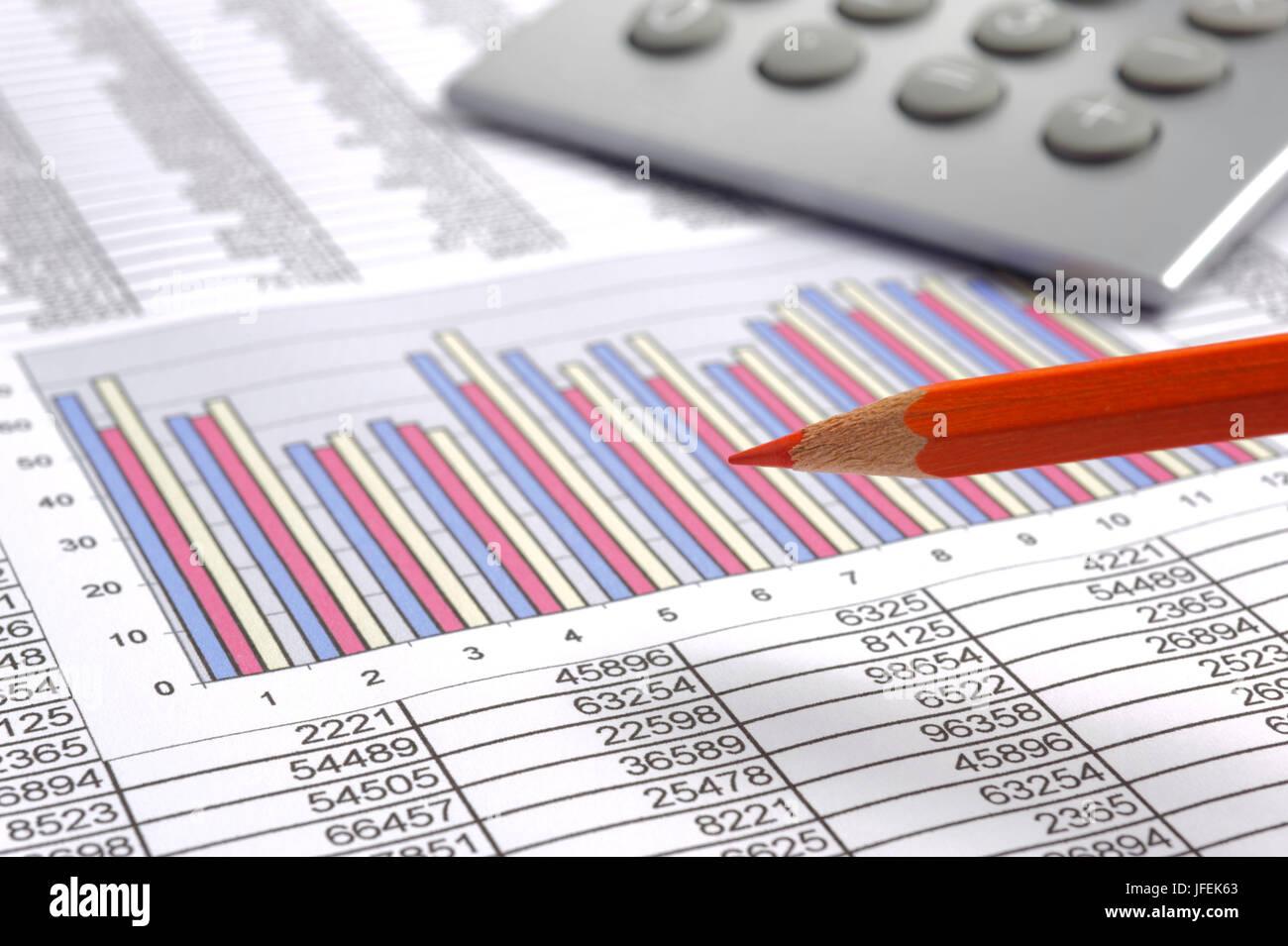 Finances calculation - Stock Image