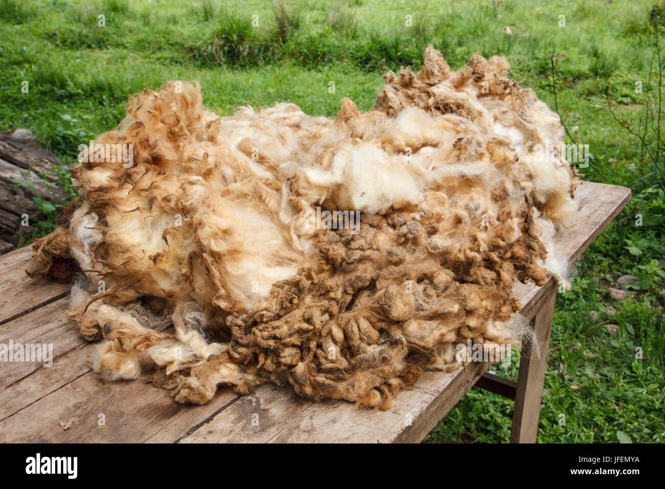 Chile, Araucania, Temuco, Mapuche, Fairly Trade, textiles, filthy sheep's wool - Stock Image