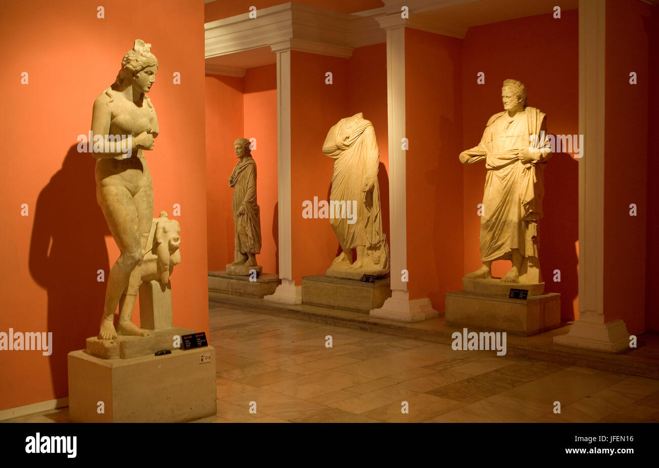 Antalya, capital of the province of the same name, archaeological museum, findings from Perge - Stock Image