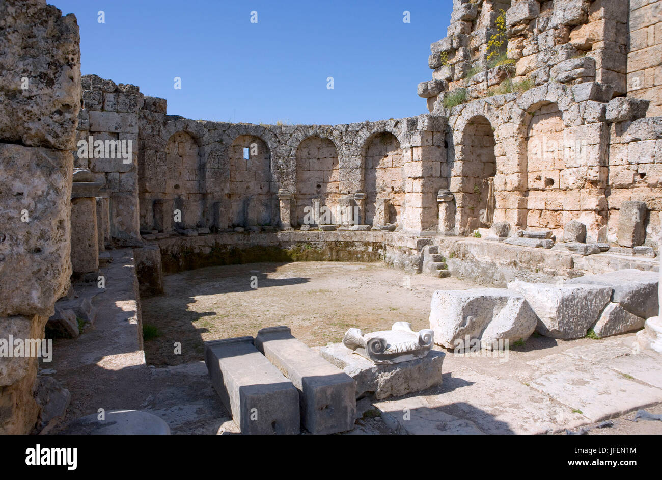 Perge, antique town, best preserved town of the antique Pamphylien, basin of the thermal spas - Stock Image