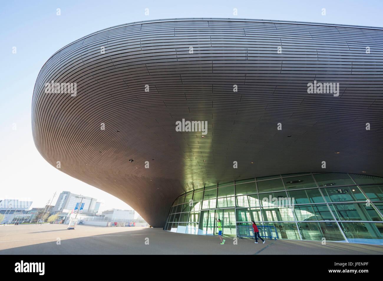 England, London, Stratford, Queen Elizabeth Olympic Park, The Aquatics Centre - Stock Image