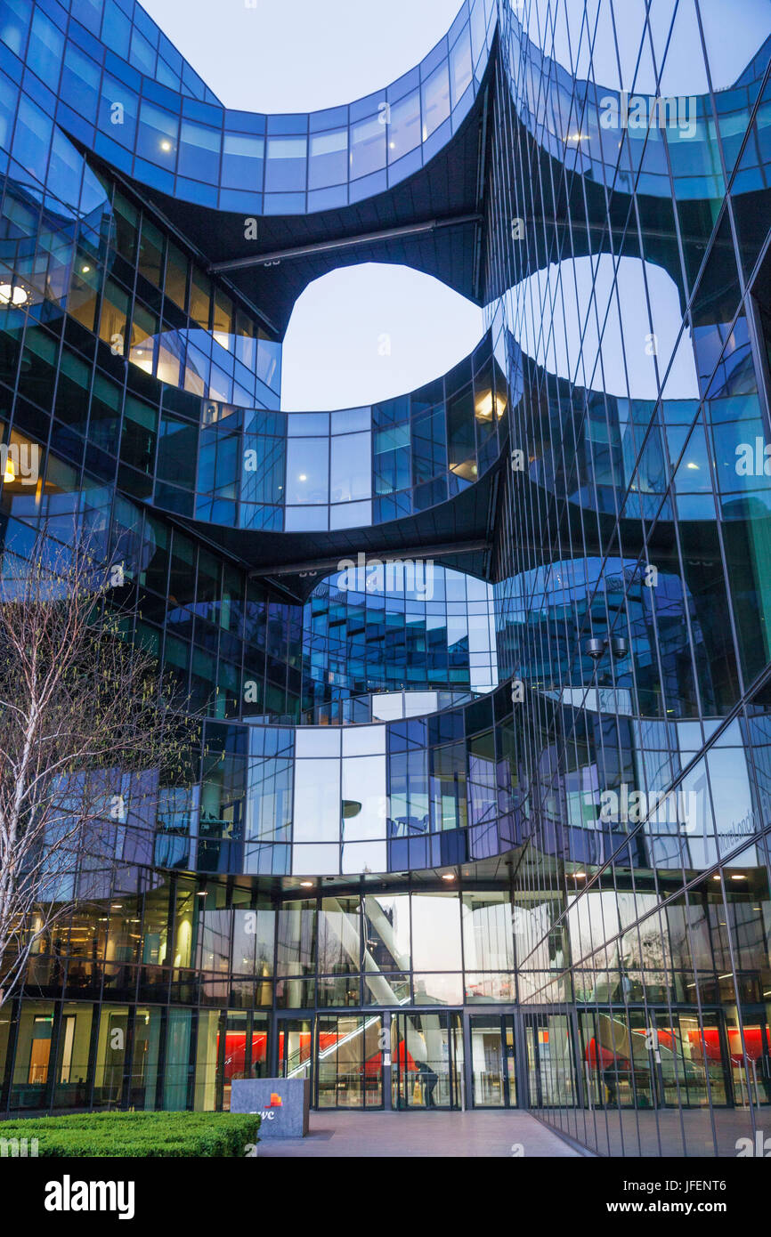 England, London, Southwark, 7 More London Office Complex, PWC (Price Waterhouse Coopers) Building - Stock Image