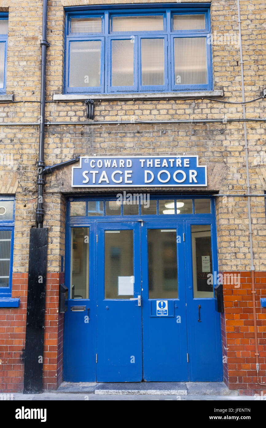 England, London, Soho, Coward Theatre Stage Door - Stock Image
