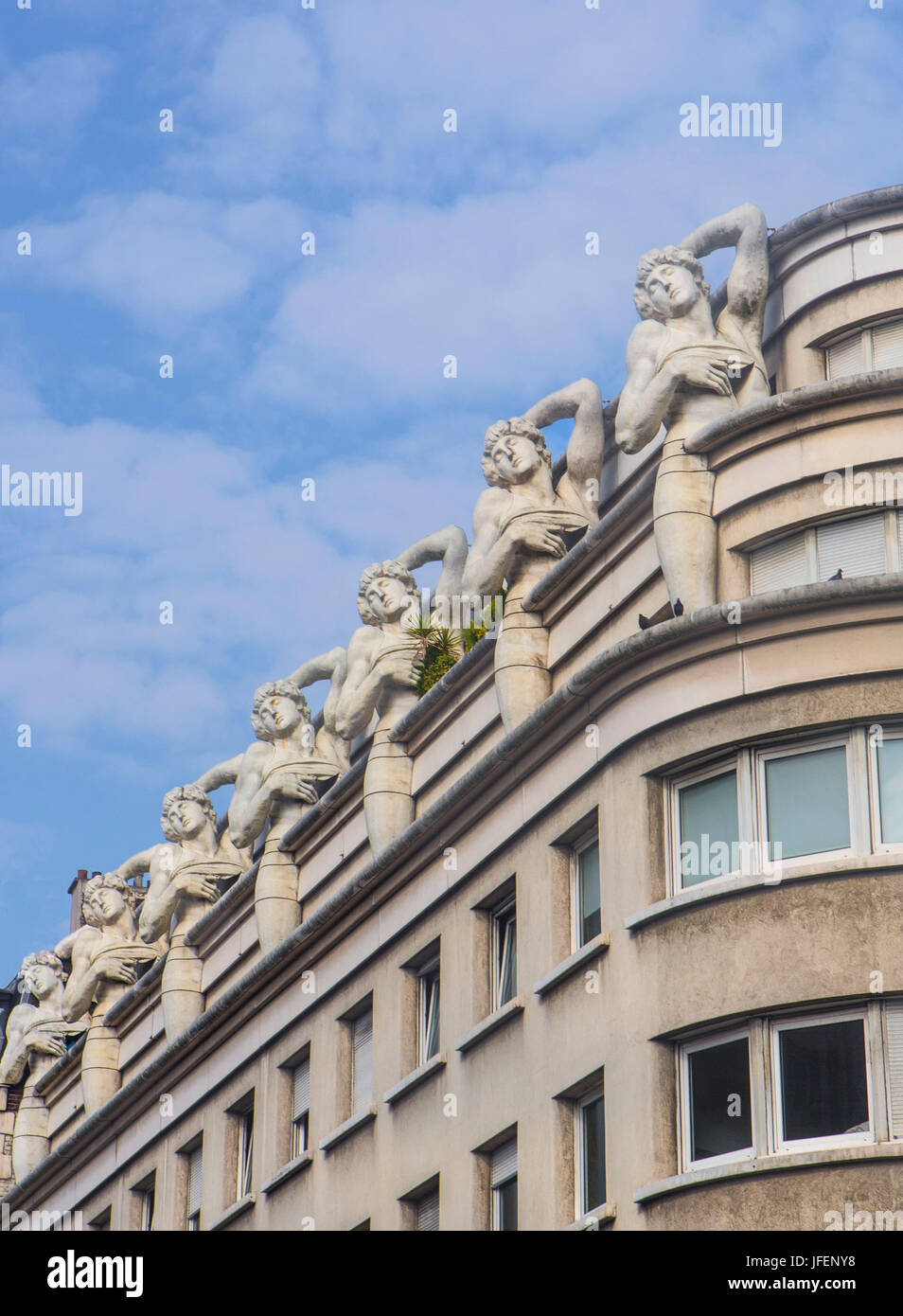 France, Paris City, modernism architecture - Stock Image