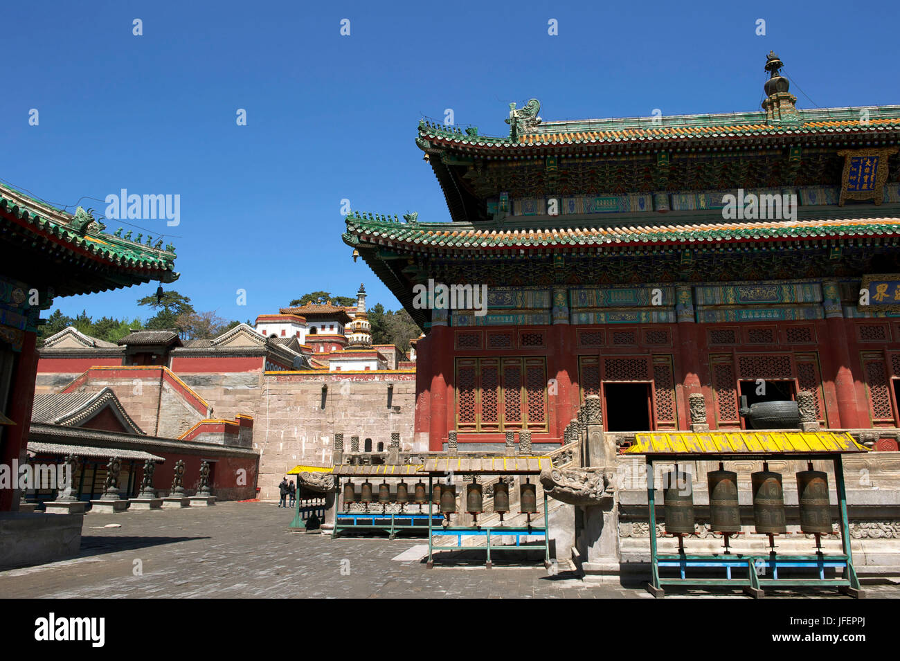 China, Hebei Province, Chengde, Puning Si temple classified by Unesco - Stock Image