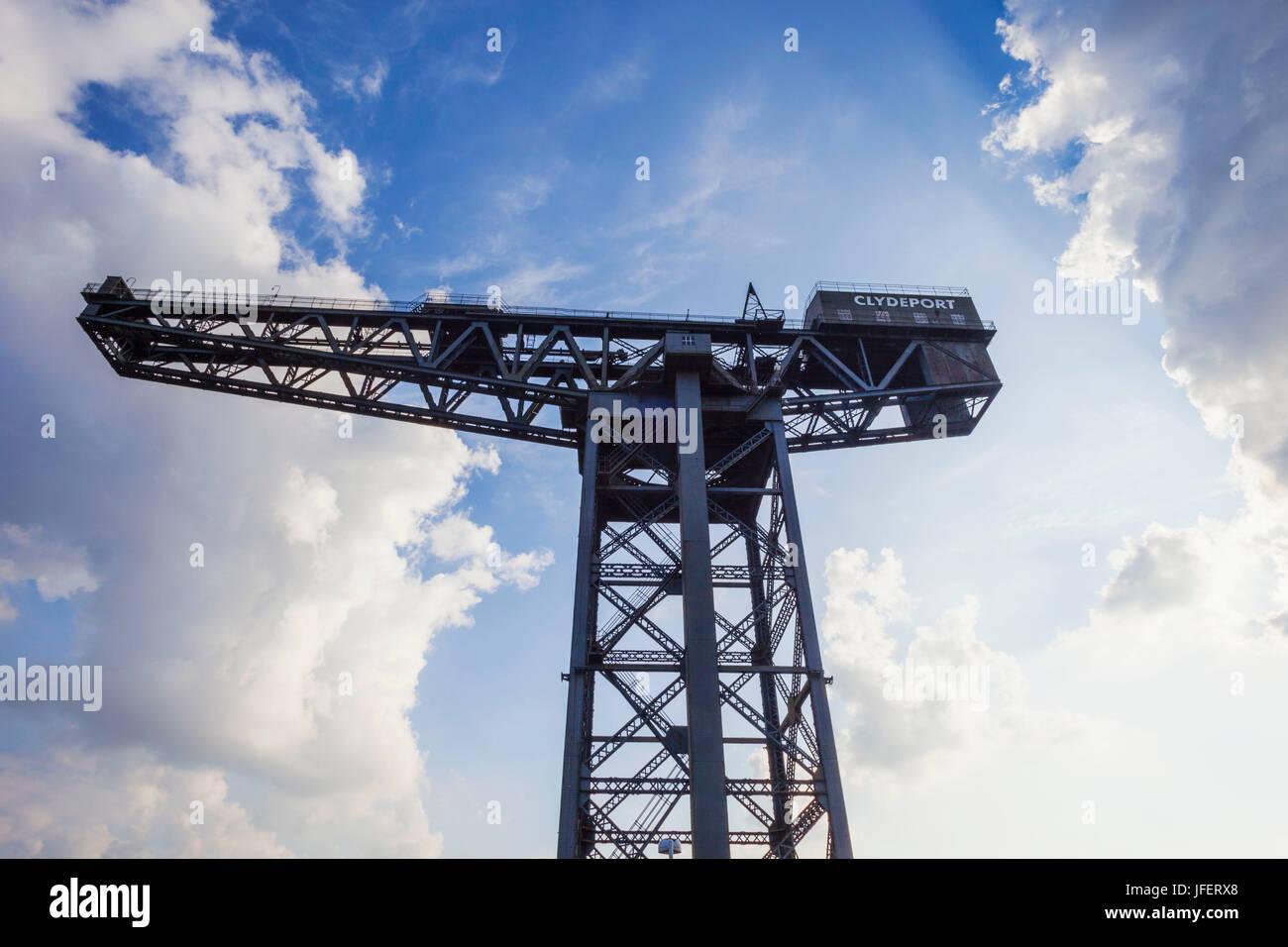 Scotland, Glasgow, Clydebank, Finnieston Crane - Stock Image