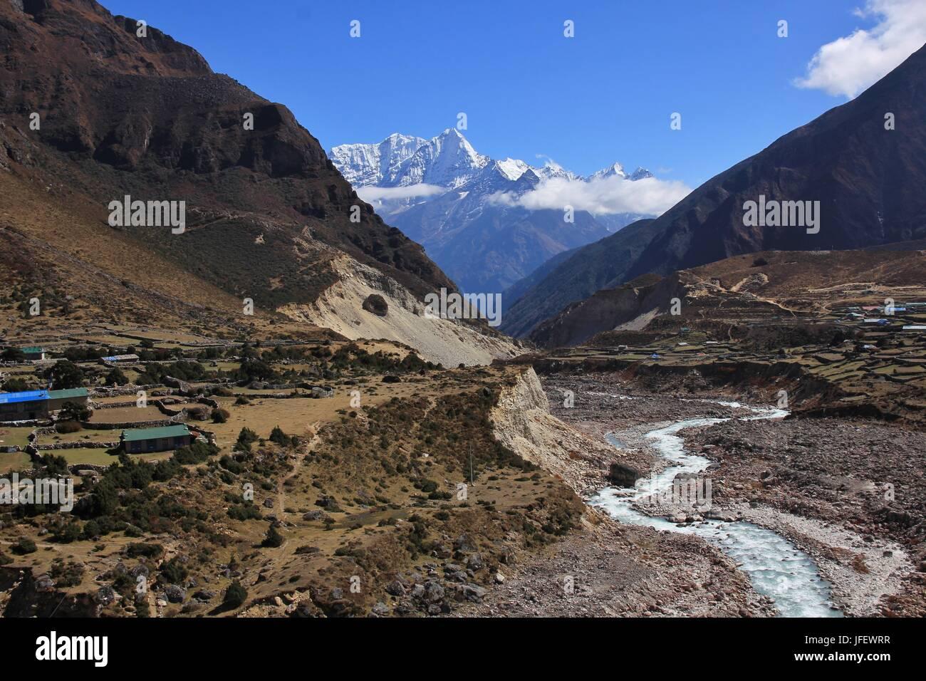 Thame valley, Everest National Park, Nepal - Stock Image